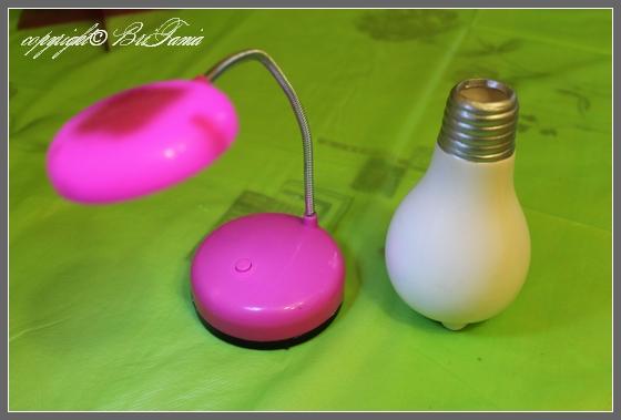 Настольная лампочка и ваза-лампа