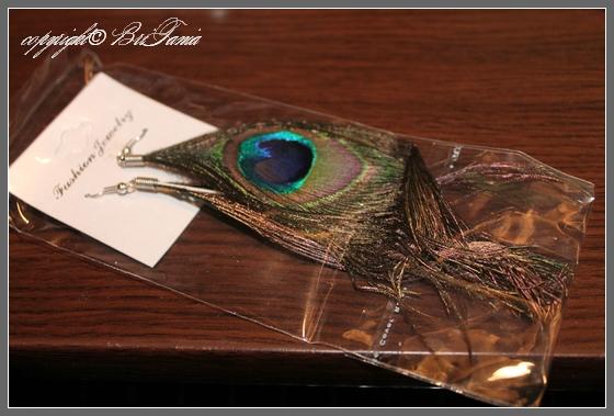 Серьги - павлиньи перья
